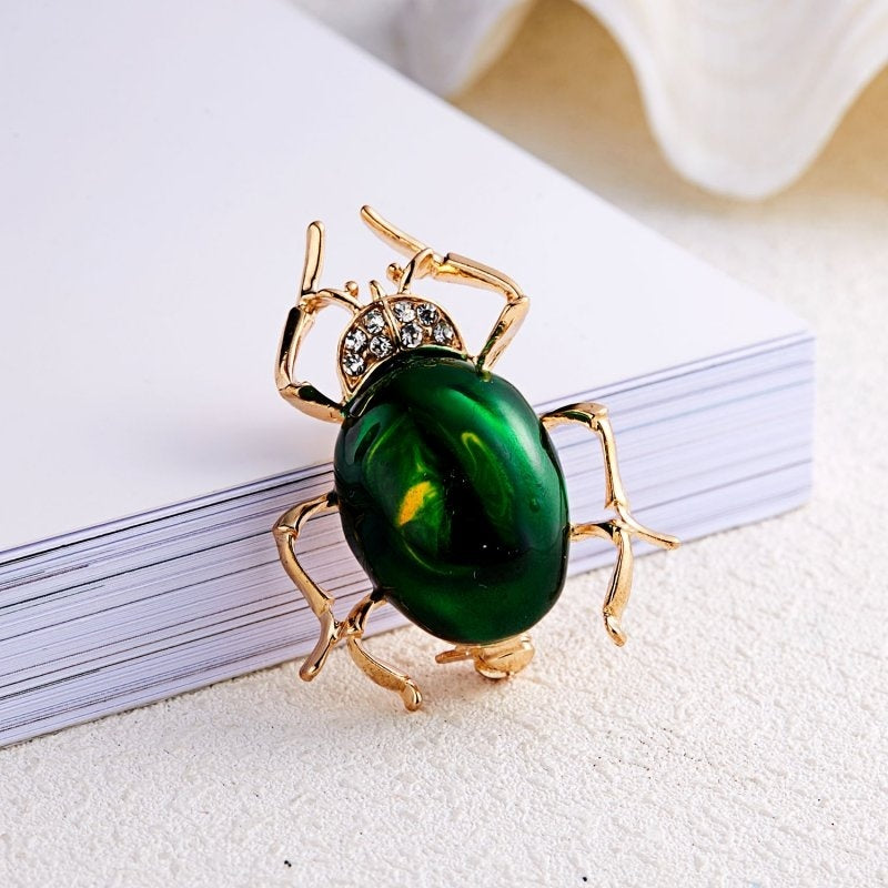 Cute Insects Scorpion Spider Crystal Enamel Brooch Animal Brooches Pins for Women Men