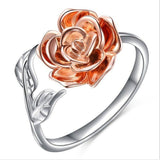 Brand new fashion alloy rose shape ring,women creative opening ring.