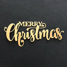 Load image into Gallery viewer, MERRY Christmas Dies Cut Word Metal Cutting Dies Christmas Stamps Dies  Craft Dies Scrapbooking