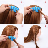 1pcs Fashion Women DIY Sponge Hair Braider Plait Twist Clip Hair Styling Tools Hair Accessories (Color: Randomly Send)