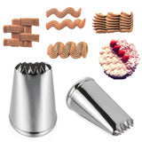 2PCS/SET  Russian Basket Weave Pastry Tips Stainless Steel Kitchen Accessories Baking Mold Icing Piping Nozzles Cake Decorating Ice Cream Tool
