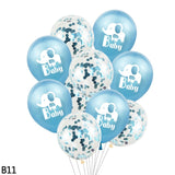 10pcs/lot 12inch Elephant Oh Baby Printed Latex Balloon Confetti Balloons for Kids Birthday Party Decoration Baby Shower Supplies