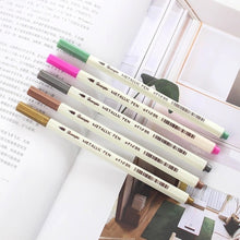 Load image into Gallery viewer, 15Pcs Color Metallic Fine Pen Pencil Marker DIY Album Dauber Pen Set Waterproof For Stationery School Supplies