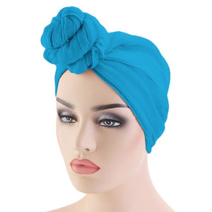 12 Colors Muslim Women Turban Hijab Head Wrap Twist Drying Cap Head Scarf For Hair Accessories