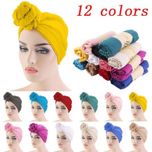 Load image into Gallery viewer, 12 Colors Muslim Women Turban Hijab Head Wrap Twist Drying Cap Head Scarf For Hair Accessories