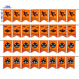 2019 Halloween Party Decoration Pumpkin Ghost Bat Shape Non-Woven Hanging Flag Home Decor