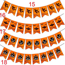 Load image into Gallery viewer, 2019 Halloween Party Decoration Pumpkin Ghost Bat Shape Non-Woven Hanging Flag Home Decor