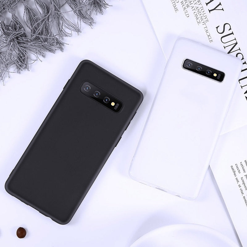 Luxury Solid Color Skin Case Soft TPU Back Cover For Samsung Galaxy S10Plus S10 S10e S9Plus S9 S8Plus S8 Note9 Note8 A50 A70 Luxury TPU For Huawei P30 P30Pro P30Lite Mate20Pro For iPhone XsMax Xr Xs X Etc