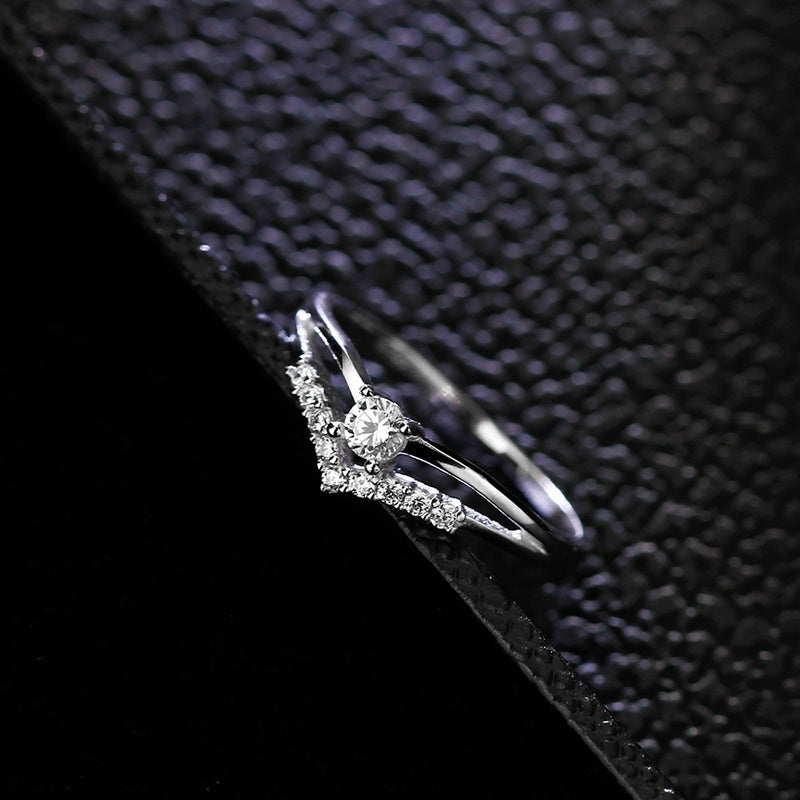 Women Glaring 925 Sterling Silver Multi-drill Diamonds Ring Wedding Engagement Courtship Rings