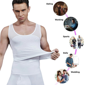 Mens Slimming Body Shaper Vest Belly Compression Shirt Abs Slim Tank Top Undershirt