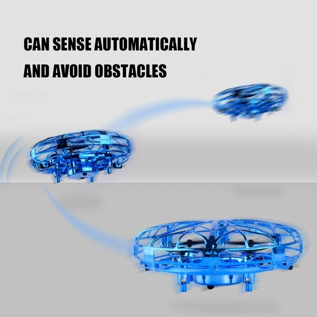 Gesture Sensing Flying UFO LED Mini Toy Suspension Four Axis Aircraft Drone Gift LED Color Light Drone Quad Copter