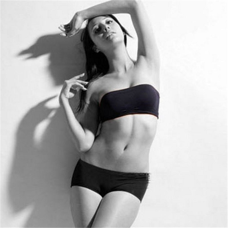 Women Seamless Strapless High Elastic Wrapped Chest Breathable Basic Chest Wrap Bra