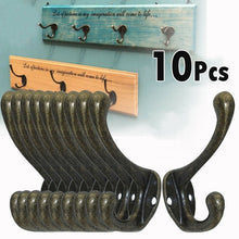 Load image into Gallery viewer, 10pcs Cast Iron Old Style Industrial Vintage Rustic Iron Coat Hooks