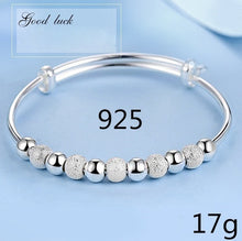 Load image into Gallery viewer, New 2018 Luxurious Design Womens 925 Sterling Silver Transfer Bead Bracelet Fashion Jewelry (Size: A B C)