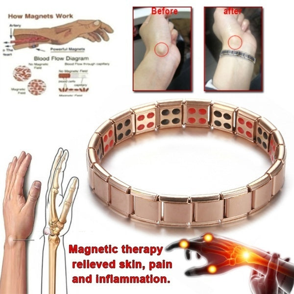 Arthritis Magnetic Therapy Bracelet Waterproof Swelling Magnetic Bracelet Rheumatism Hand Pain Relief Health Compression Treatment Bracelet