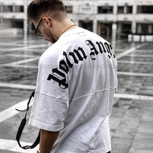 Load image into Gallery viewer, 2019 Newest Men Women T Shirts Best Quality Summer Style Bat Shirt Letter Printed Palm Angels T-shirts Mens Top Tees Fashion Casual Loose Sport White Tee