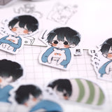 32pcs Cute Korean Cartoon Boy Scrapbooking Diary Mobile Phone Stickers Stationery Stickers Children Gift Student Supplies