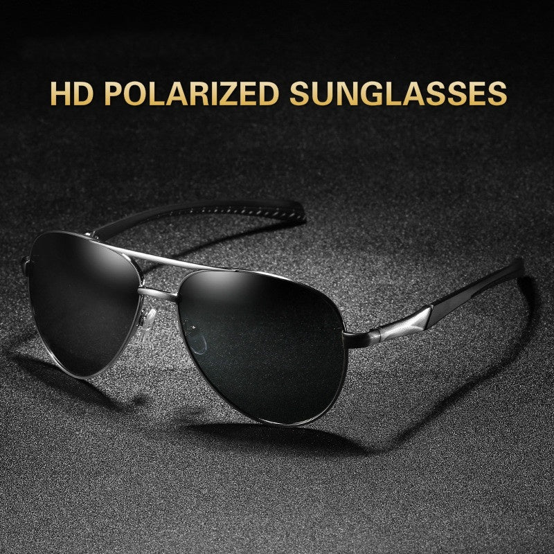 Men Polarized Sunglasses Classic Large Frame Sunglasses Cycling Sunglasses Fashion Driving Sunglasses UV Protection Sunglasses
