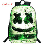 New Fashion DJ Marshmello Backpacks Colorful School Bags for Teenagers Bookbag Boys Schoolbag 3D Printed Student Waterproof Travel Bag