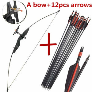 30/40 lbs M99 Nylon resin riser Aiming Straight bow Straight Pull Bow with 12pcs Archery Fiberglass Arrow Spine 500 30' Composite Fiberglass Arrow  for Archery hunting sports