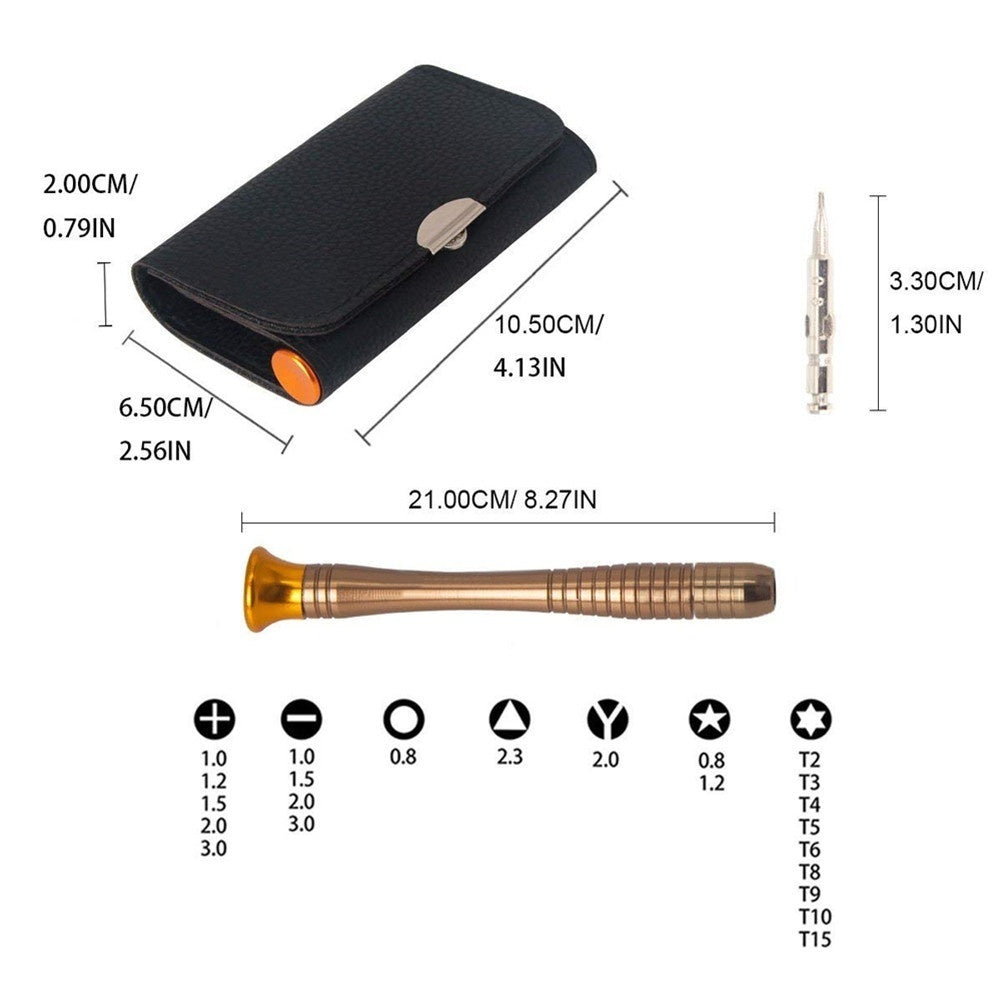 25Pcs/Set Screwdriver Set Electronics Repair Tools Wallet Set For Glasses Cellphone Laptop Electronics Precision Hand Tools