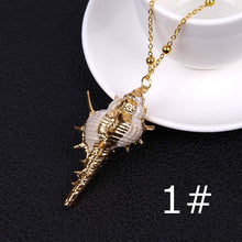 Load image into Gallery viewer, 1PCS Summer Beach Natural Conch Shell Pendant Necklace Bohemia Ocean Seaside Necklace