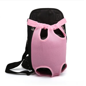 XS-XL Pet Dogs Cats Carrier Backpack Canvas Front Bag Legs Out
