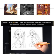 Load image into Gallery viewer, Super Slim A4/A5 Drawing Graphic Tablet IP65 Waterproof LED Light Box Tracing Copy Board Painting Writing Tablet for Diamond Painting & Painting Supplies Children Gifts
