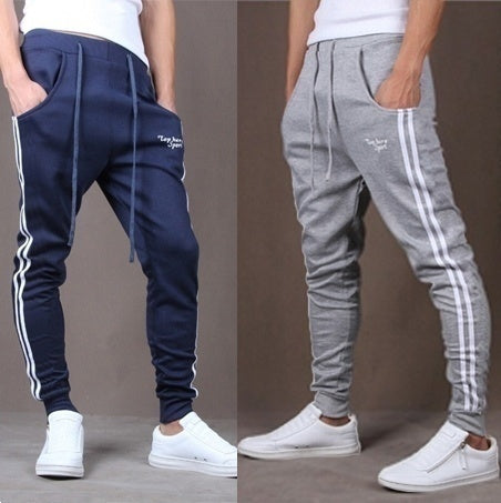 Men's Cool Fashion Design Sport Long Pants Brand Trousers