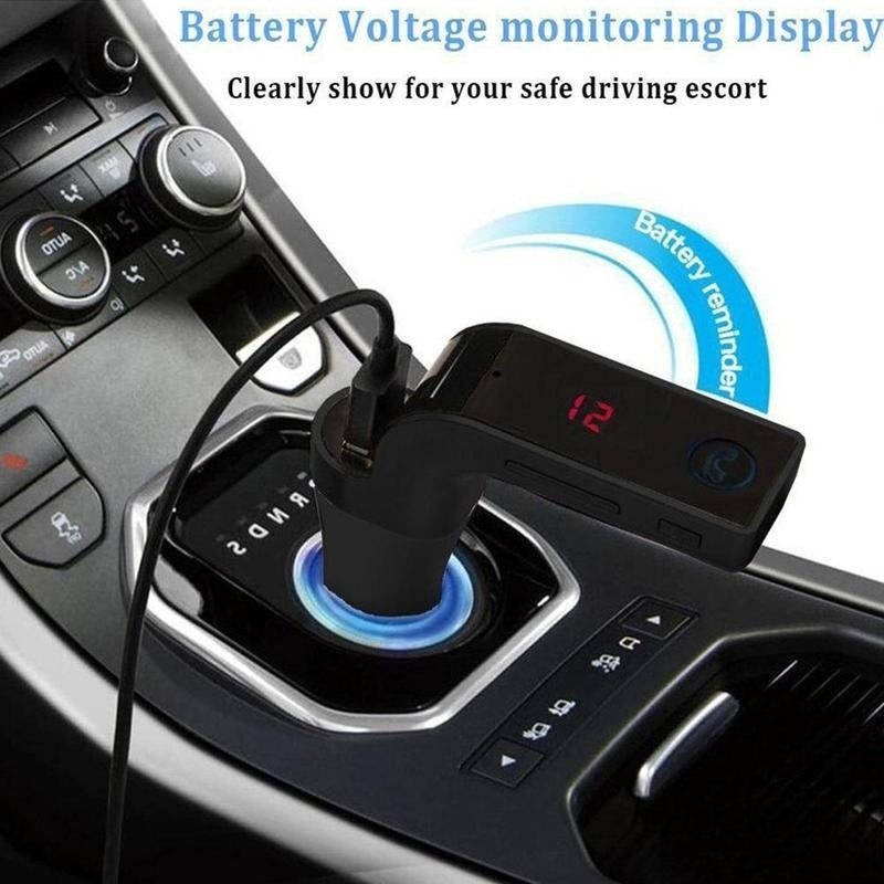 Bluetooth Car Kit Handsfree FM Transmitter Radio MP3 Player USB Charger