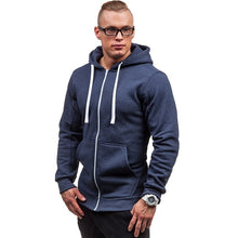 Load image into Gallery viewer, New Men's Fashion Hoodie Pure Color Slim Hooded