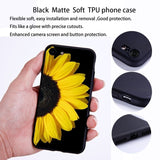 Sunflower Phone Case for Iphone X XR XS XSmax Matte Soft TPU Back Covers for Iphone 6/6s/6p/6sp 7/7p 8/8p