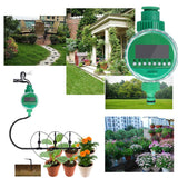 25m 94pcs Micro Drip Irrigation System With Timer Plant Automatic Spray Greenhouse Watering Kits
