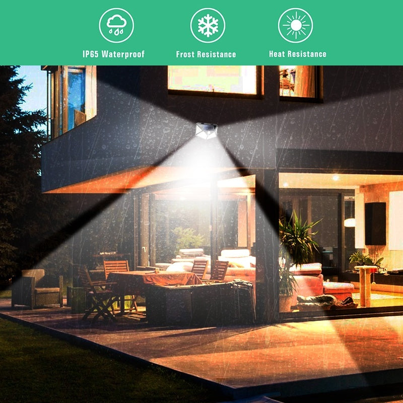 114 LEDs Solar Lights Outdoor Solar Powered Motion Sensor Lights Outdoor Waterproof Wall Light Night Light with 3 Modes 270deg Wide Angle for Garden, Patio Yard, Deck Garage, Fence, Landscape, Courtyard