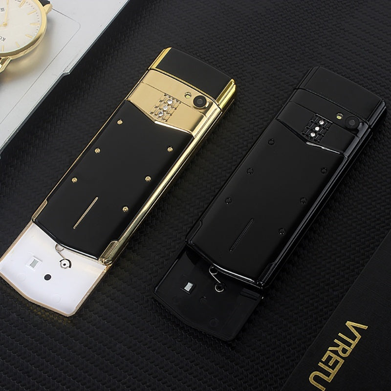 Luxury Phone Metal Body Cectdigi V05 Smallest Mini Dual Sim Slide Mobile Phone Bluetooth Magic Voice Hebrew and Russian Phone