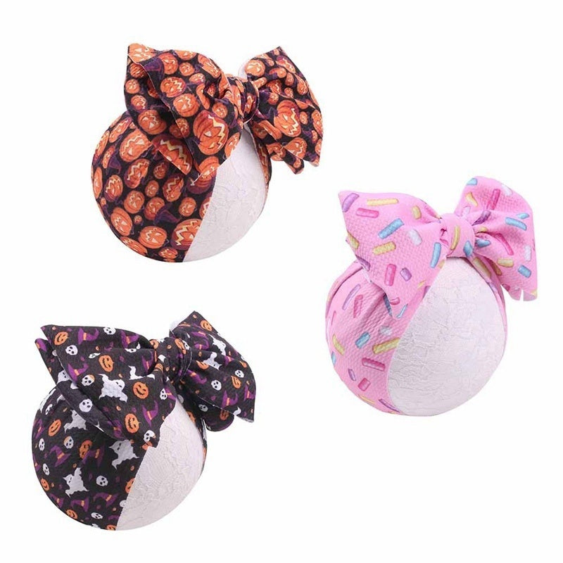 Newborn Headband Cotton Elastic Baby Kids Turban Knot Floral Headwear Hair Band Girls Bow-Knot For 3-18 Month Baby