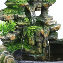 Load image into Gallery viewer, New Creative Indoor Simulation Resin Rockery Waterfall Statue Feng Shui Water Fountain Home Garden Crafts