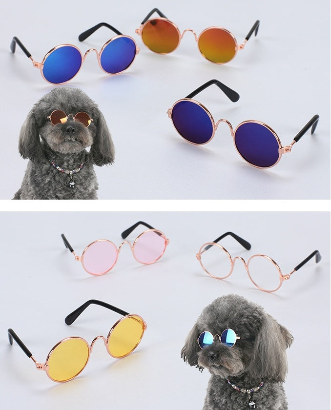 Dog Cat Pet Glasses Sunglasses Little Dog Eyewear Photos Props Dog Cat Accessories Pet Supplies for Pet Products Cat Glasses