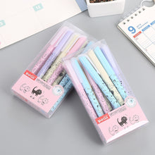 Load image into Gallery viewer, 4 Pcs/lot Cat Animal Erasable Gel Pen Cute 0.38 Mm Blue Black Ink Signature Pen School Writing Supply