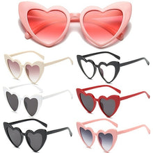 Load image into Gallery viewer, New Fashion Heart Shape Sunglasses for Women Cute Cat Eye Sun Glasses