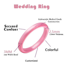Load image into Gallery viewer, 10Pcs Silicone Rings Yoga Finger Rings Wedding Bands Ring Rubber Engagement Ring For Men Women