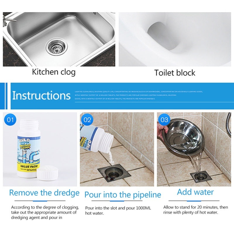 Hot Sale Cleaner Powerful Sink Drain Cleaner Portable Powder Cleaning Tool Super Clog Remover