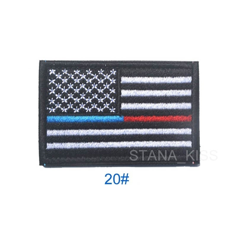 The American Flag Embroidered Velcro badges left right shoulder Epaulets