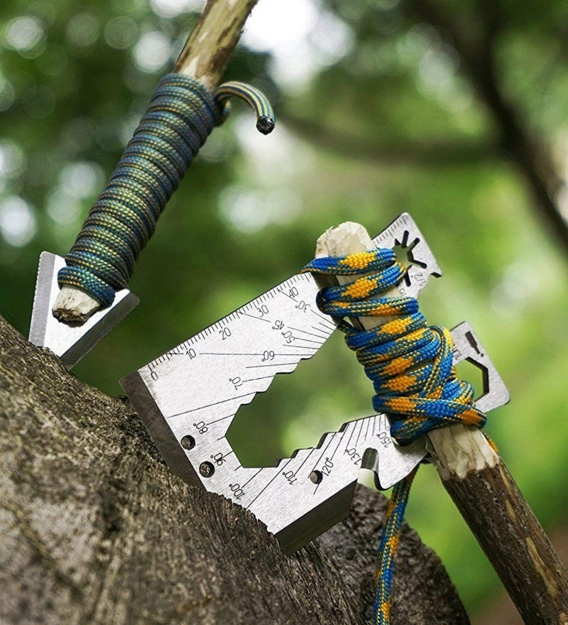 Survival Multitool 40+ Function Axe Card for Camping Gear, Hiking, Fishing, Climbing, Hunting, Wilderness Survival, Emergency Kit