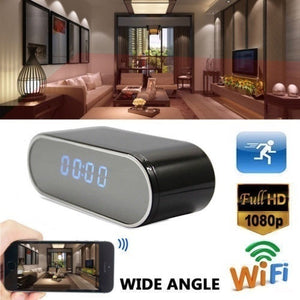 HD 1080P WIFI IP Secret Camera Spy Clock IR Night Wireless Camera DVR