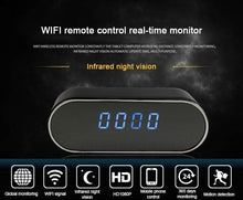 Load image into Gallery viewer, HD 1080P WIFI IP Secret Camera Spy Clock IR Night Wireless Camera DVR