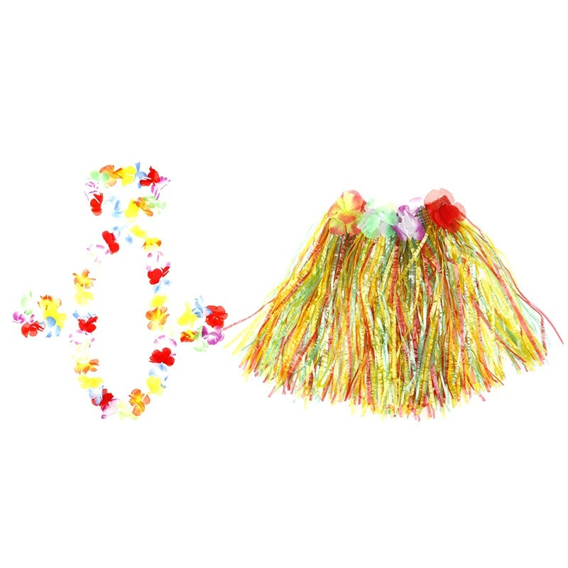 5pcs 30cm/60cm Hawaiian costumes Dance Garland Hula Suit Festive Party Supplies