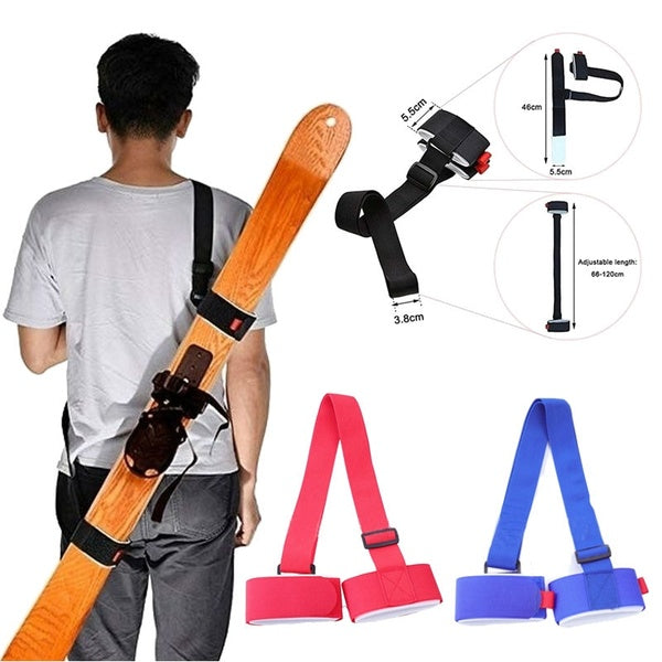 Adjustable Ski Board Belt Skiing Pole Shoulder Carring Strap Strong Sling Lash Downhill Snow Gear Accessory