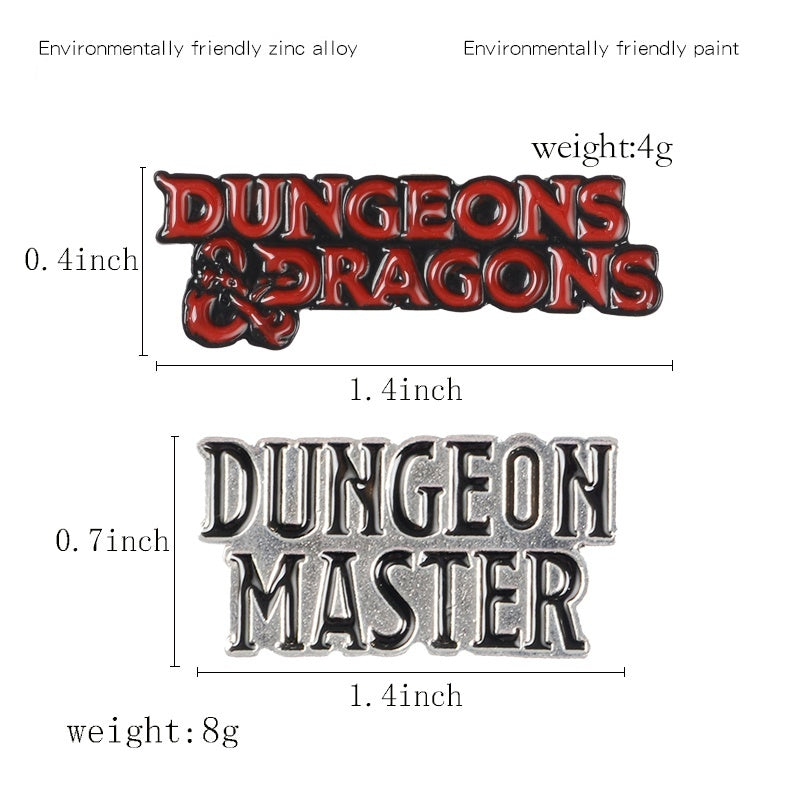 Dungeon Master Enamel Pin DnD Dungeons and Dragons Brooch Bag Clothes Lapel Pin D20 Badges Role Playing Game Jewelry