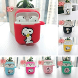 Snoopy Charlie  Airpods  Smart cover  Apple  Wireless Bluetooth headset case Anti fall  Silica gel iPods shell sleeve